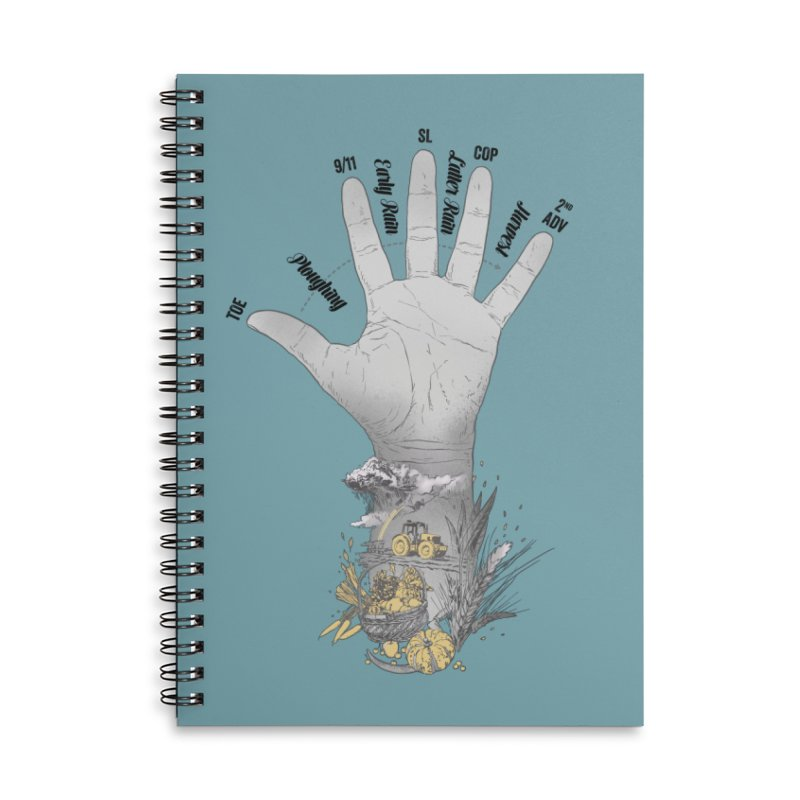 The Hand (grey) Accessories Notebook by librito's Artist Shop