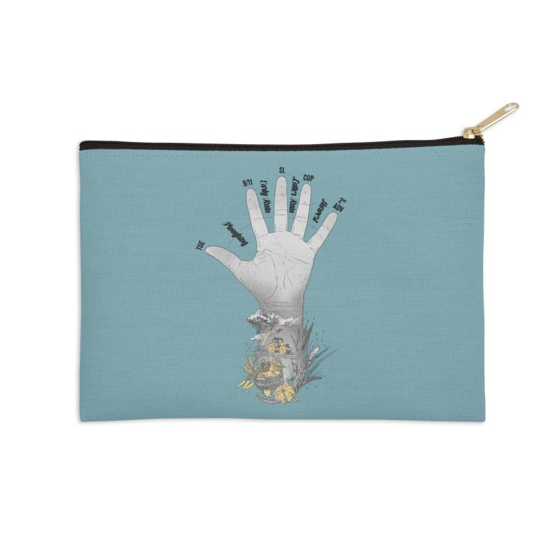 The Hand (grey) Accessories Zip Pouch by librito's Artist Shop