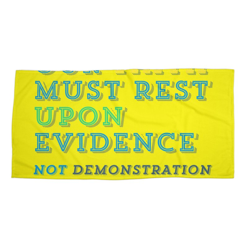 Evidence Accessories Beach Towel by librito's Artist Shop