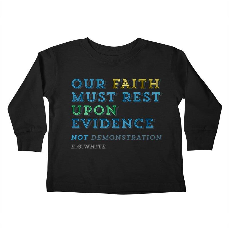 Evidence Kids Toddler Longsleeve T-Shirt by librito's Artist Shop