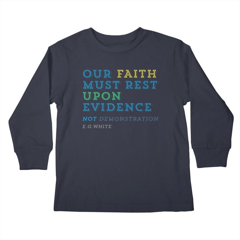 Evidence Kids Longsleeve T-Shirt by librito's Artist Shop