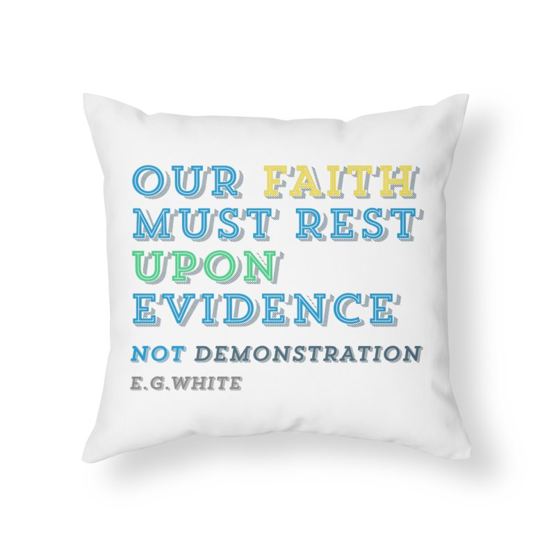 Evidence Home Throw Pillow by librito's Artist Shop