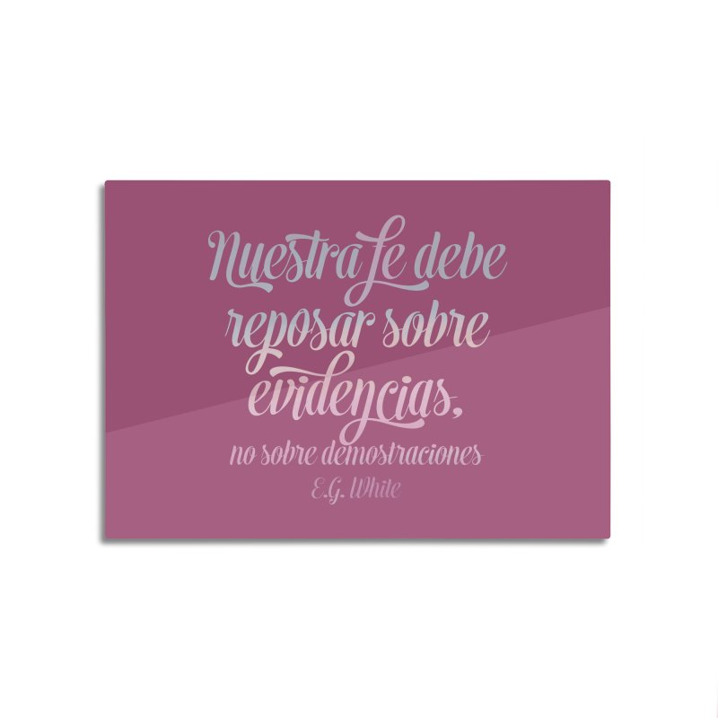 Nuestra fe Home Mounted Aluminum Print by librito's Artist Shop