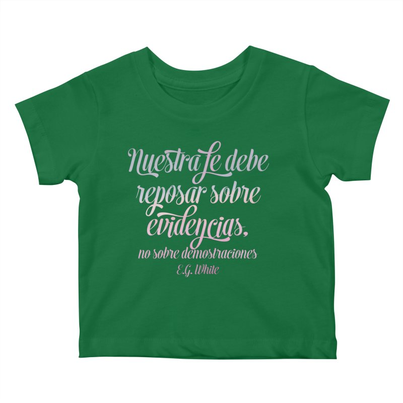 Nuestra fe Kids Baby T-Shirt by librito's Artist Shop