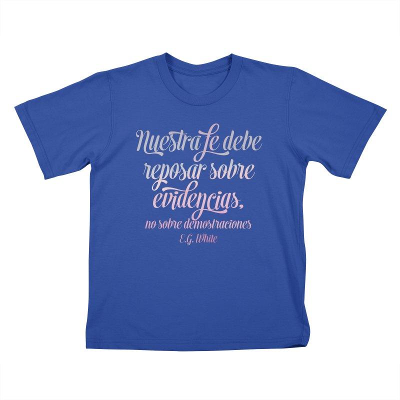 Nuestra fe Kids T-Shirt by librito's Artist Shop