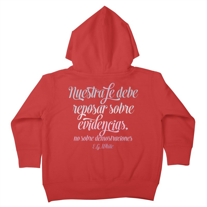 Nuestra fe Kids Toddler Zip-Up Hoody by librito's Artist Shop