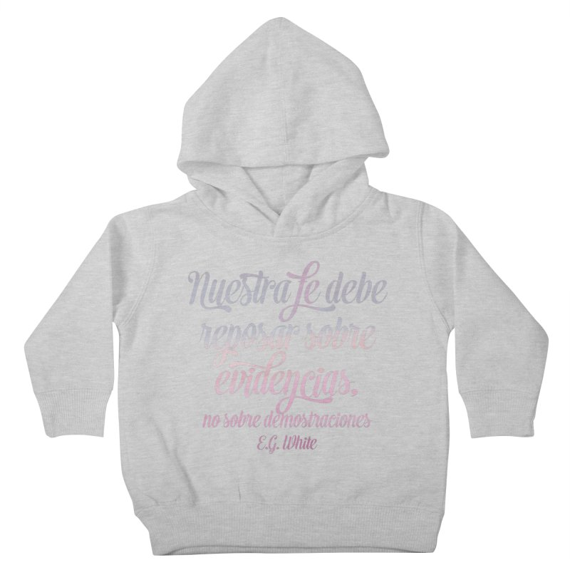 Nuestra fe Kids Toddler Pullover Hoody by librito's Artist Shop