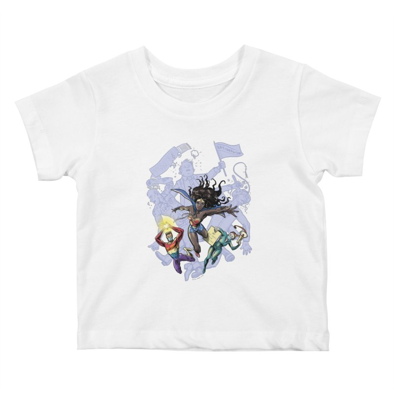 Social Superheroes 2020 Kids Baby T-Shirt by librito's Artist Shop