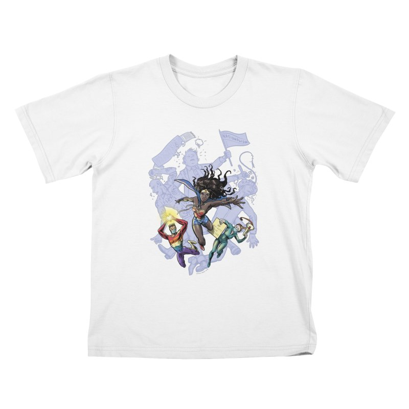 Social Superheroes 2020 Kids T-Shirt by librito's Artist Shop