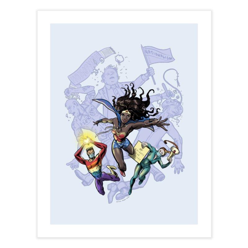 Social Superheroes 2020 Home Fine Art Print by librito's Artist Shop