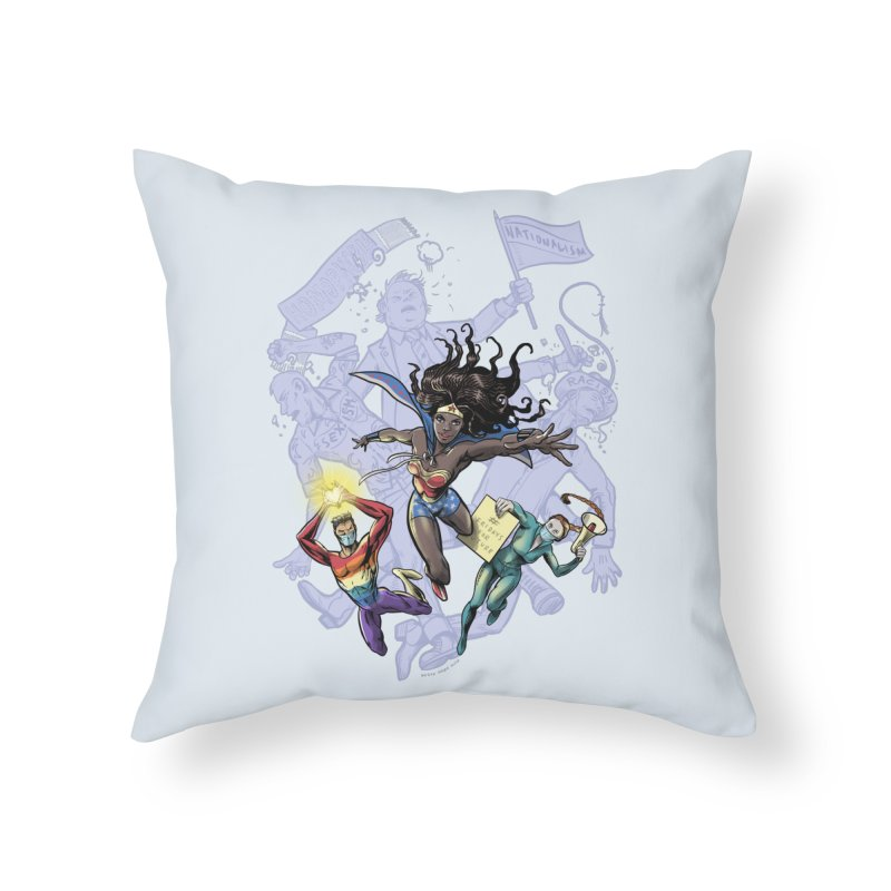 Social Superheroes 2020 Home Throw Pillow by librito's Artist Shop