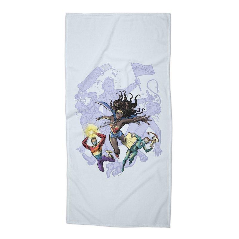 Social Superheroes 2020 Accessories Beach Towel by librito's Artist Shop