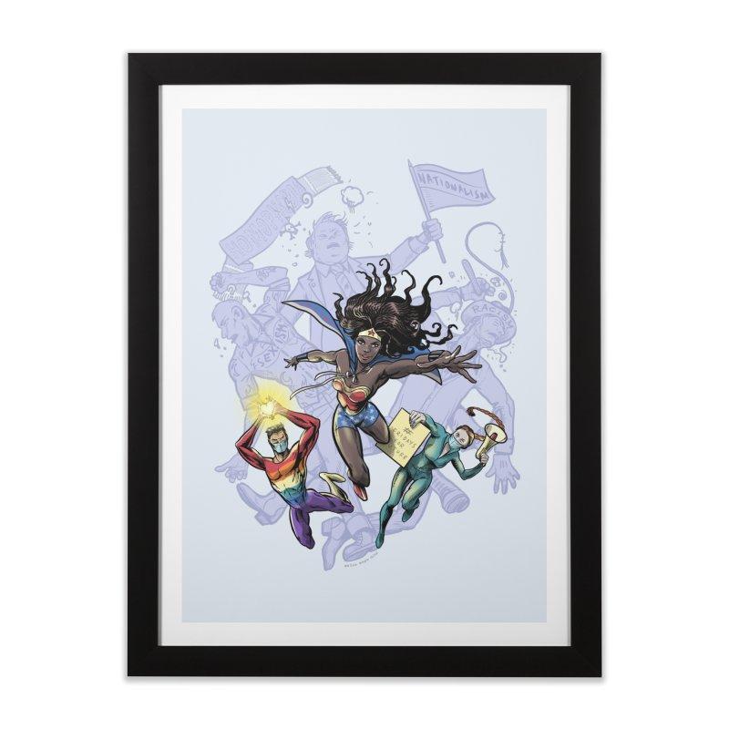 Social Superheroes 2020 Home Framed Fine Art Print by librito's Artist Shop