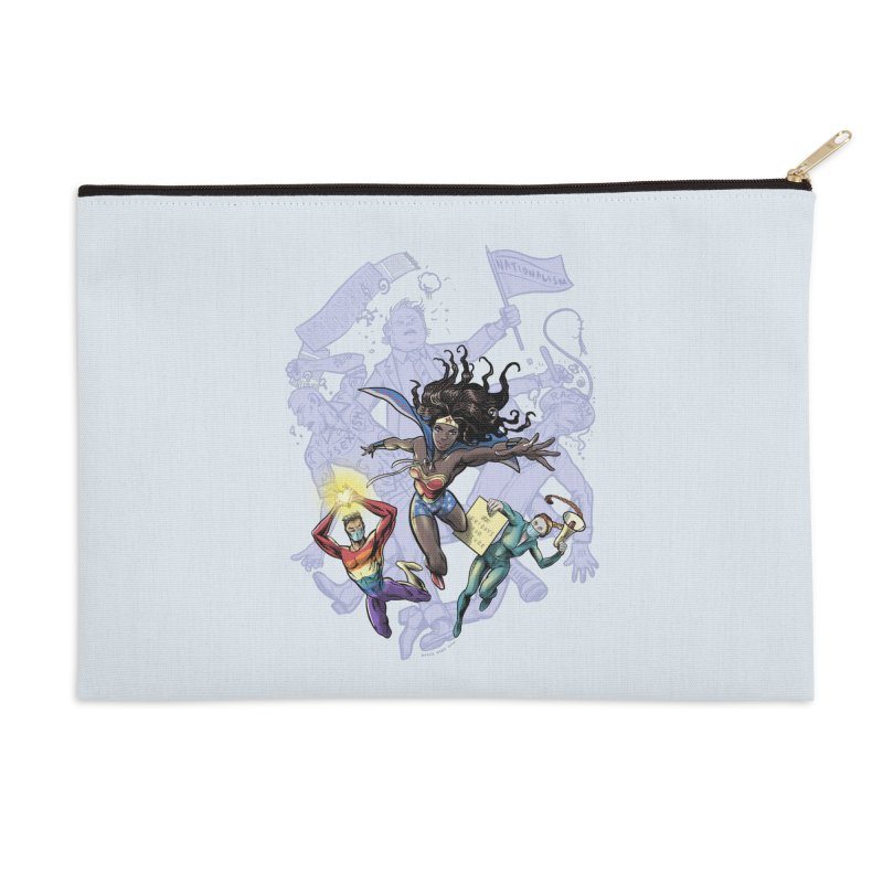 Social Superheroes 2020 Accessories Zip Pouch by librito's Artist Shop