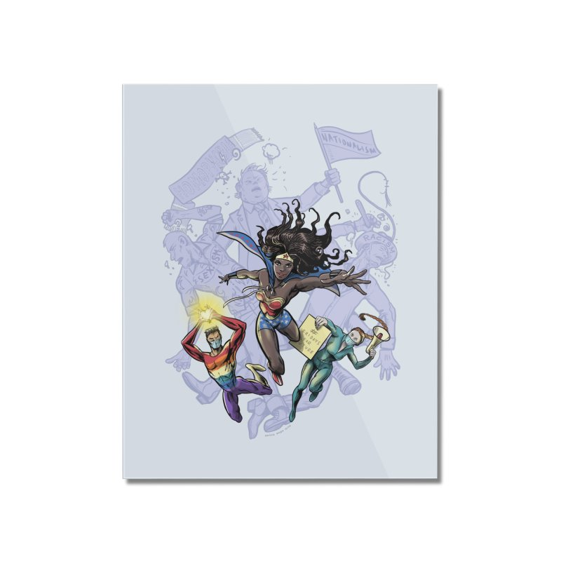 Social Superheroes 2020 Home Mounted Acrylic Print by librito's Artist Shop