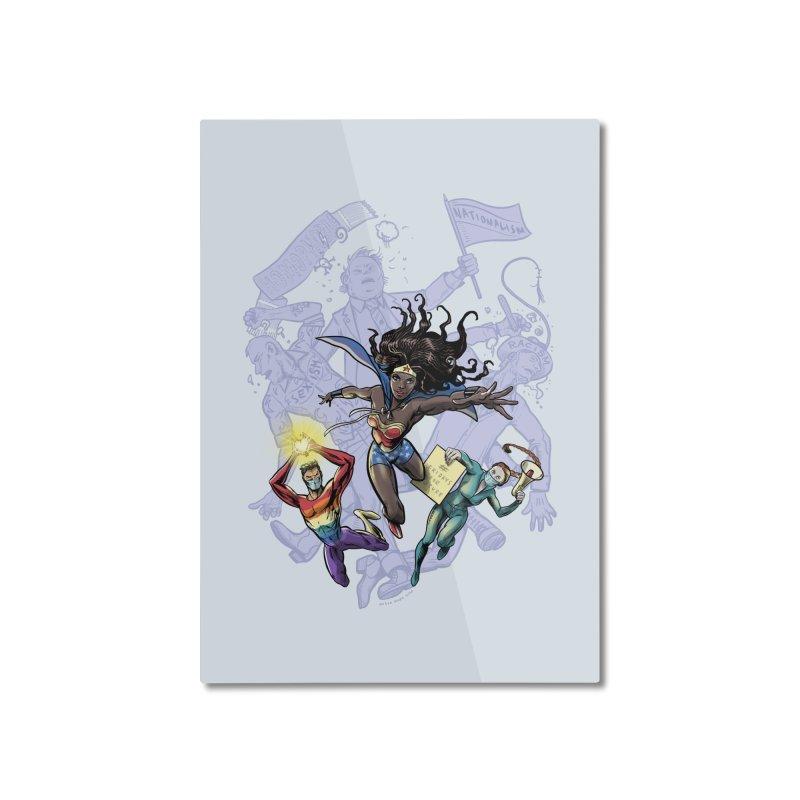 Social Superheroes 2020 Home Mounted Aluminum Print by librito's Artist Shop
