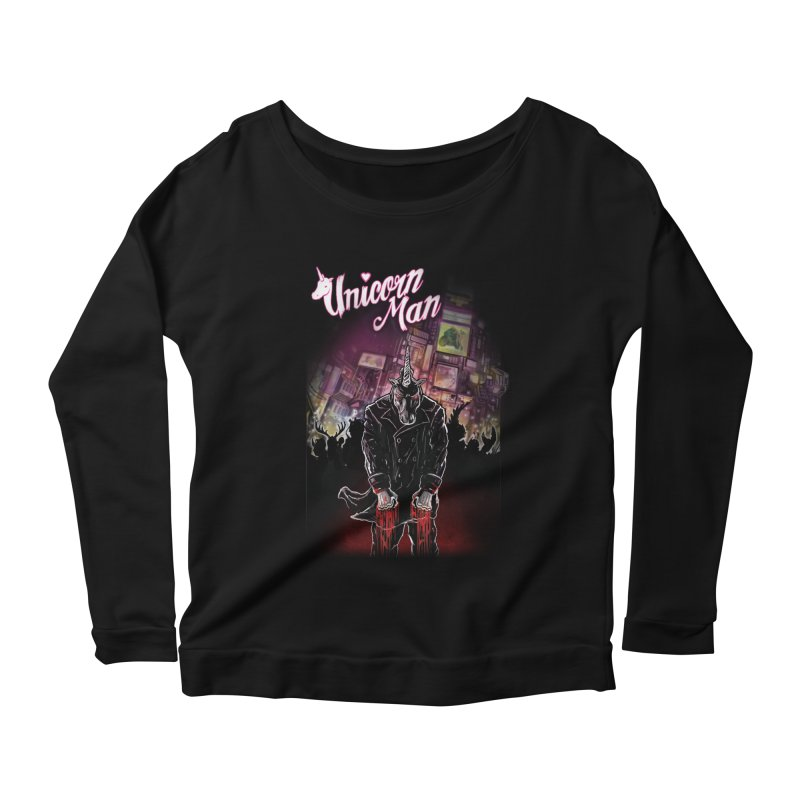 Unicorn Man Women's Longsleeve Scoopneck  by licensetoink's Artist Shop