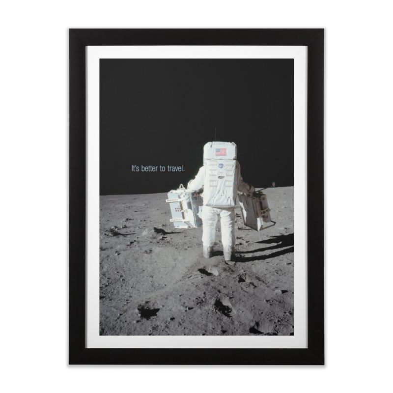 It's Better to Travel in Framed Fine Art Print Black by LierreStudio's Artist Shop