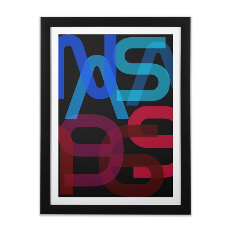 NASA 1969 Home Framed Fine Art Print by LierreStudio's Artist Shop