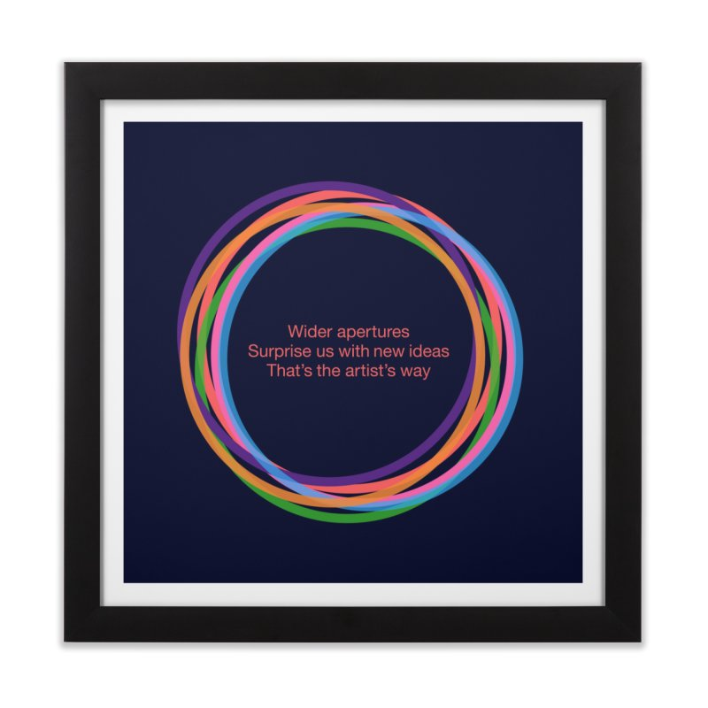 Aperture Home Framed Fine Art Print by LierreStudio's Artist Shop
