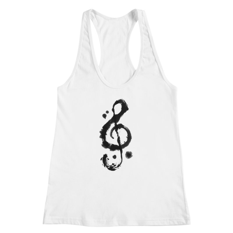 Rhythm Women's Racerback Tank by lifedriver's Artist Shop