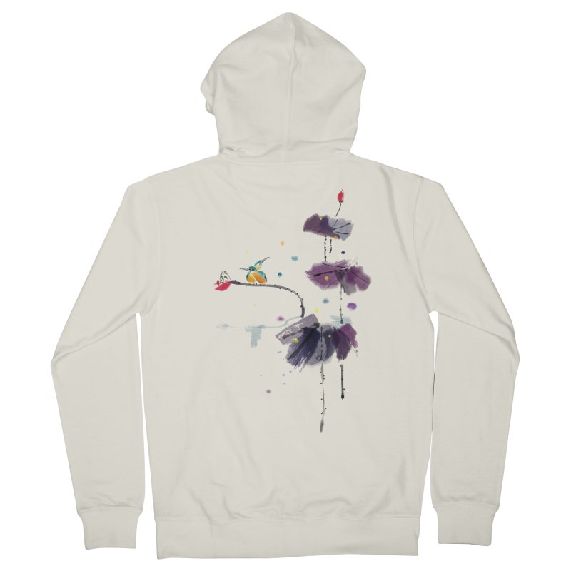 Lovely Night Women's French Terry Zip-Up Hoody by lifedriver's Artist Shop
