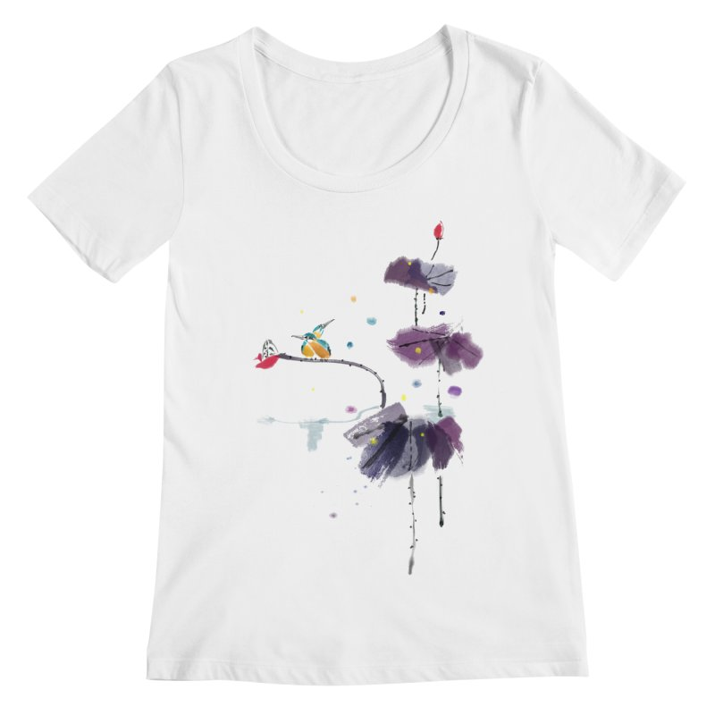 Lovely Night Women's Regular Scoop Neck by lifedriver's Artist Shop