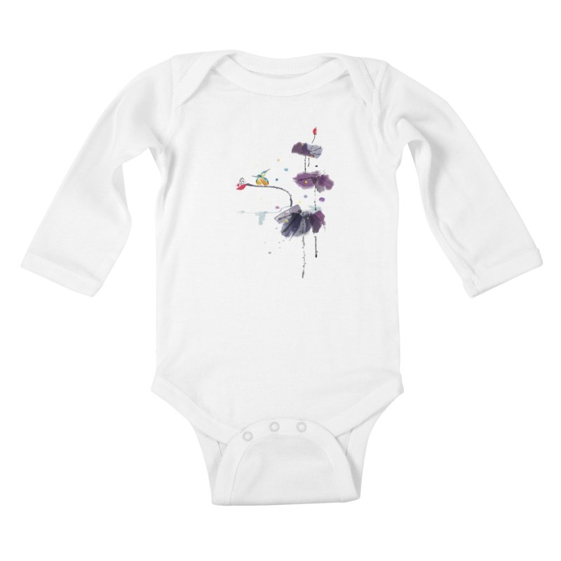 Lovely Night Kids Baby Longsleeve Bodysuit by lifedriver's Artist Shop