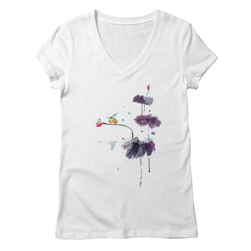 Lovely Night Women's Regular V-Neck by lifedriver's Artist Shop