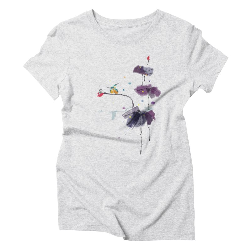 Lovely Night Women's Triblend T-shirt by lifedriver's Artist Shop