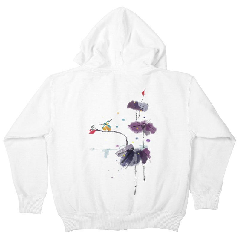 Lovely Night Kids Zip-Up Hoody by lifedriver's Artist Shop