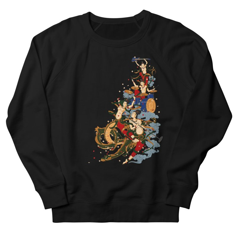 Feitian Men's French Terry Sweatshirt by lifedriver's Artist Shop