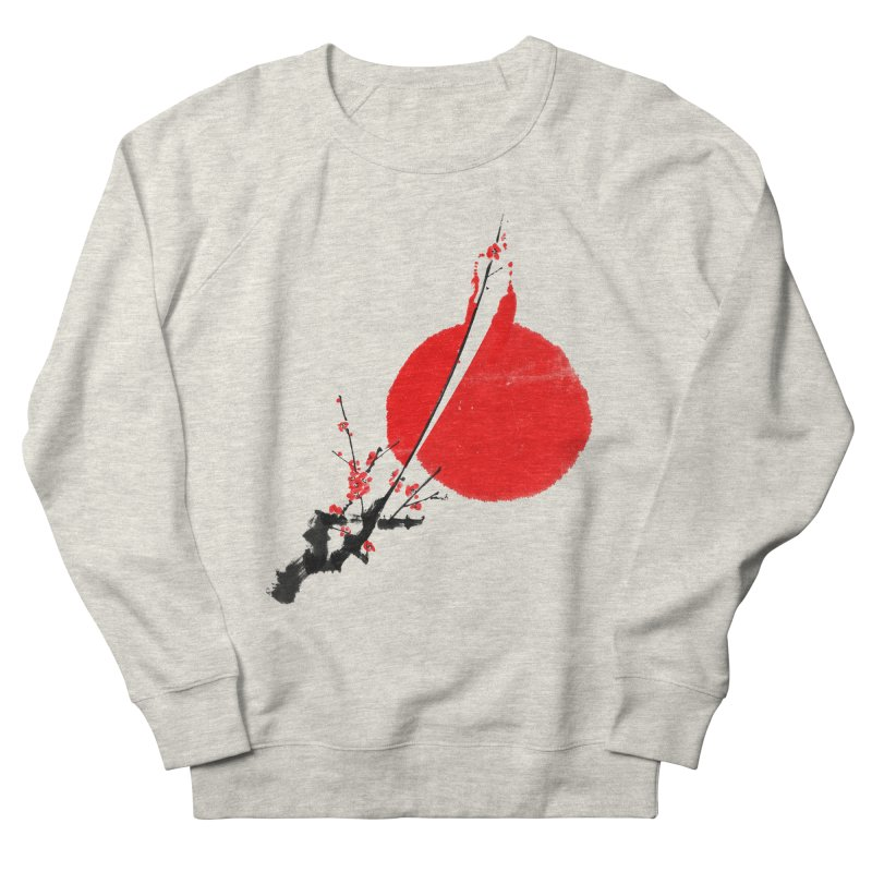A Twig of Ume Blossoms Men's French Terry Sweatshirt by lifedriver's Artist Shop
