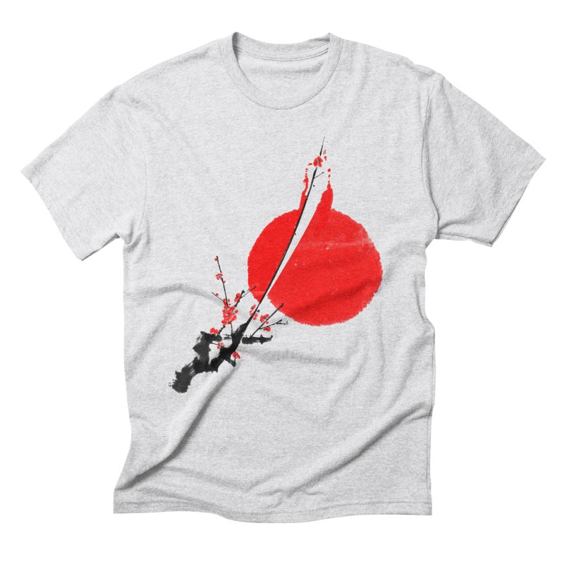 A Twig of Ume Blossoms Men's Triblend T-shirt by lifedriver's Artist Shop