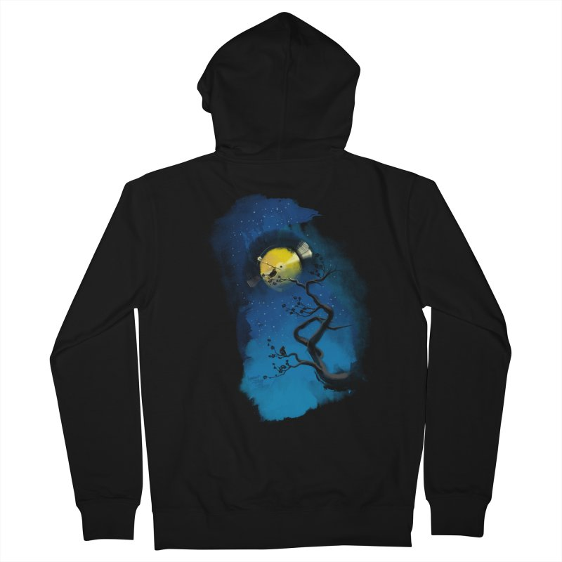 Tht Night Women's French Terry Zip-Up Hoody by lifedriver's Artist Shop