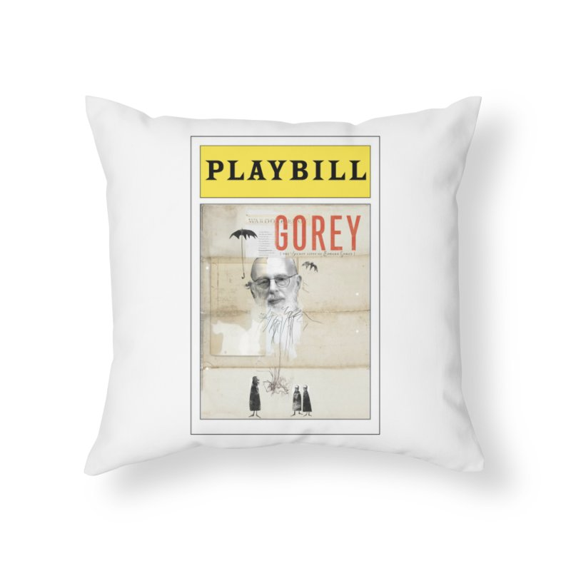 Gorey Home Throw Pillow by Life Jacket Theatre Company