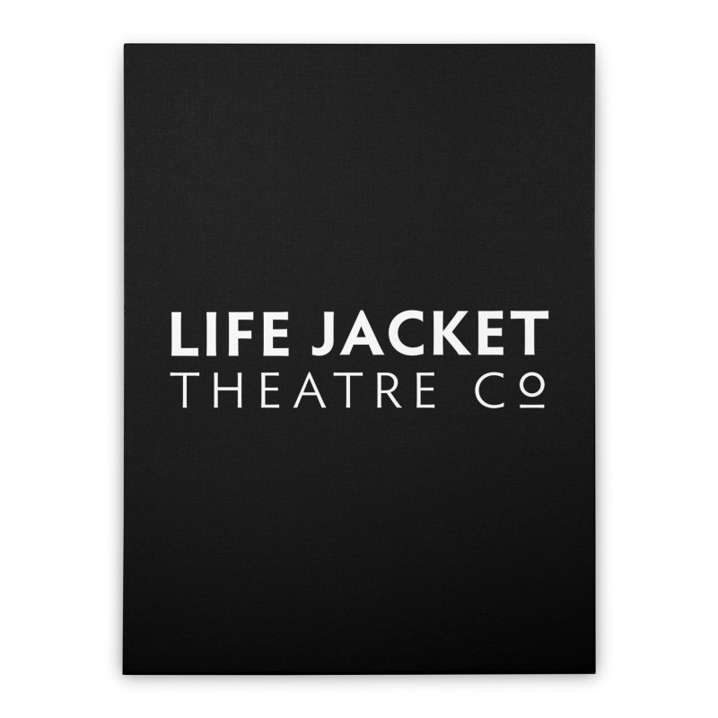 Life Jacket Logo: Black Home Stretched Canvas by Life Jacket Theatre Company