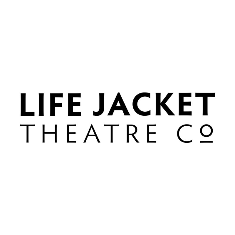 Life Jacket Logo: White Men's T-Shirt by Life Jacket Theatre Company