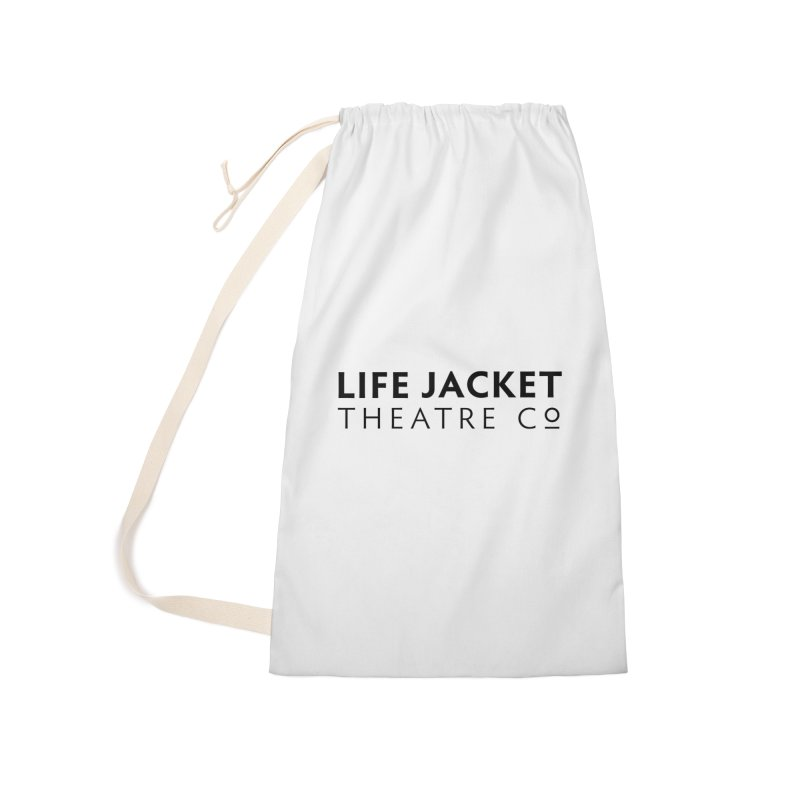 Life Jacket Logo: White Accessories Bag by Life Jacket Theatre Company