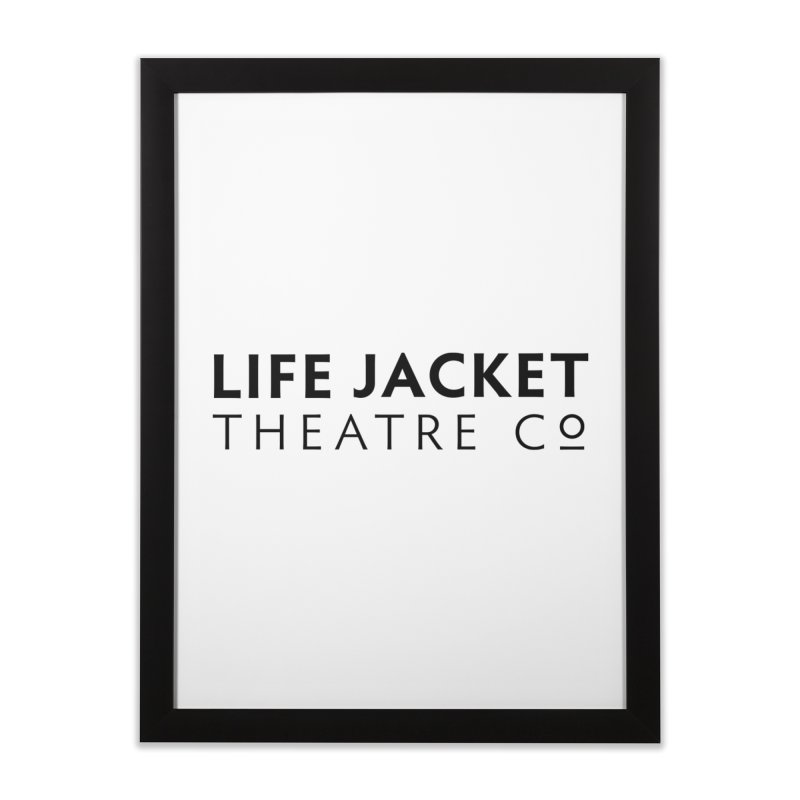 Life Jacket in Framed Fine Art Print Black by Life Jacket Theatre Company