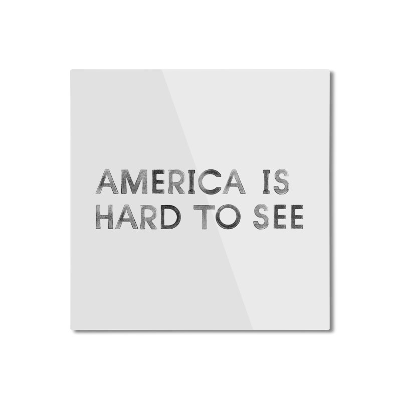 America Logo: White Home Mounted Aluminum Print by Life Jacket Theatre Company