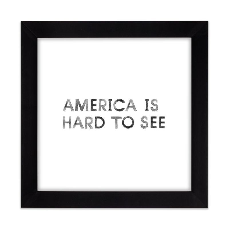 America Logo: White Home Framed Fine Art Print by Life Jacket Theatre Company