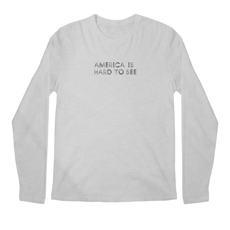 America Logo: White Men's Longsleeve T-Shirt by Life Jacket Theatre Company