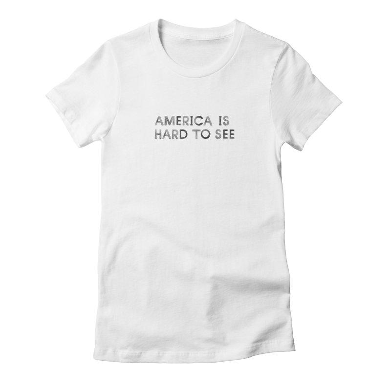 America Logo: White Women's T-Shirt by Life Jacket Theatre Company