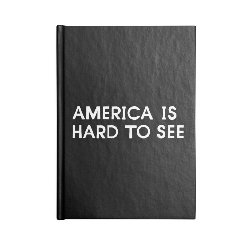 America Logo: Black Accessories Notebook by Life Jacket Theatre Company