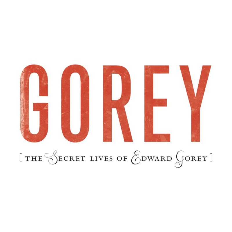 Gorey Logo: White Men's T-Shirt by Life Jacket Theatre Company