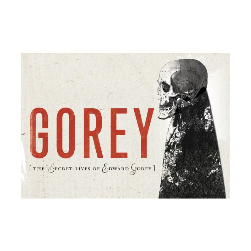 Gorey: Skull Art Title Card Home Tapestry by Life Jacket Theatre Company