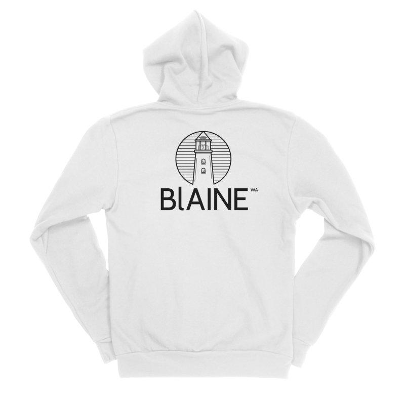 Blaine Lighthouse Black Men's Zip-Up Hoody by Life Lurking's Artist Shop