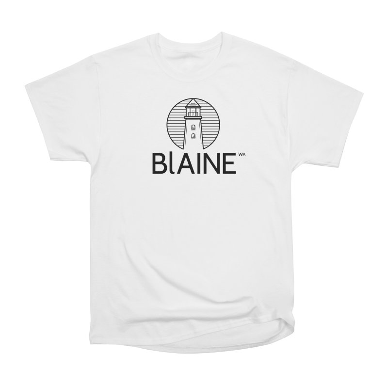 Blaine Lighthouse Black Men's T-Shirt by Life Lurking's Artist Shop