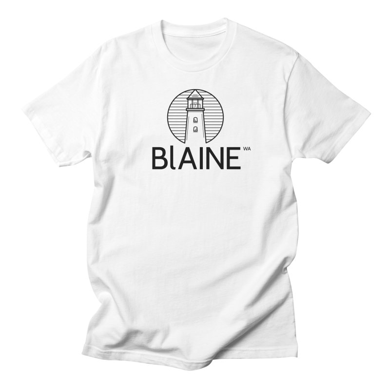 Blaine Lighthouse Black Men's T-Shirt by Life Lurking's Artist Shop